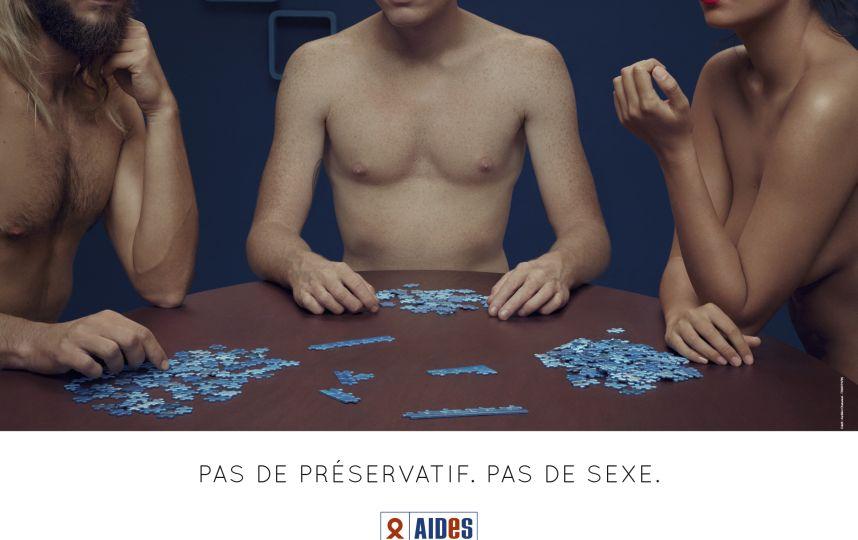 """Le bon réflexe : """"Pas de préservatif, pas de sexe !"""" C'est la nouvelle campagne d'AIDES contre le Sida"""