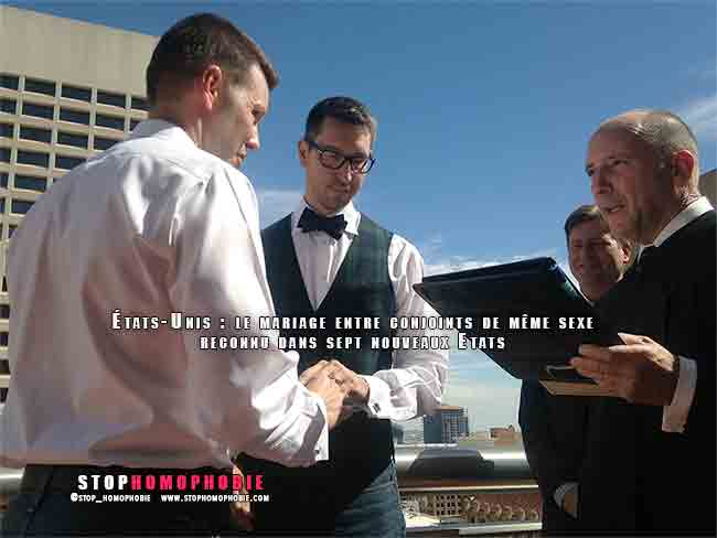 États-Unis : le mariage entre conjoints de même sexe reconnu dans sept nouveaux Etats