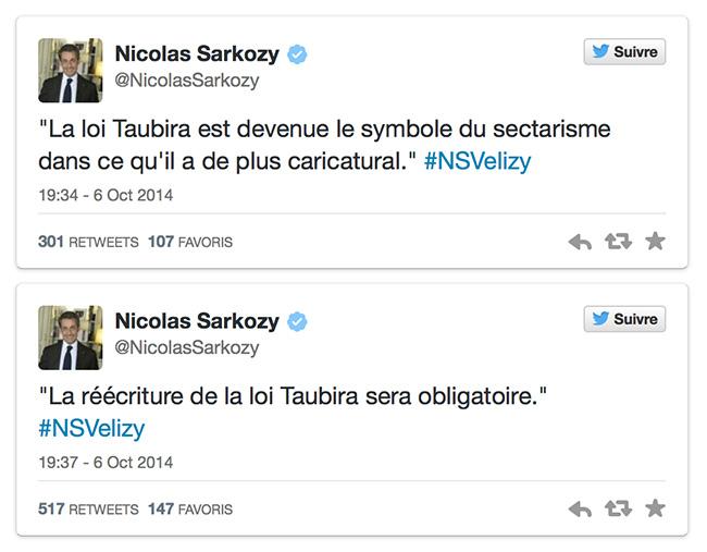 """Loi Taubira : Quand Nicolas Sarkozy qualifie la manif pour tous de """"sectarisme dans ce qu'il a de plus caricatural"""""""