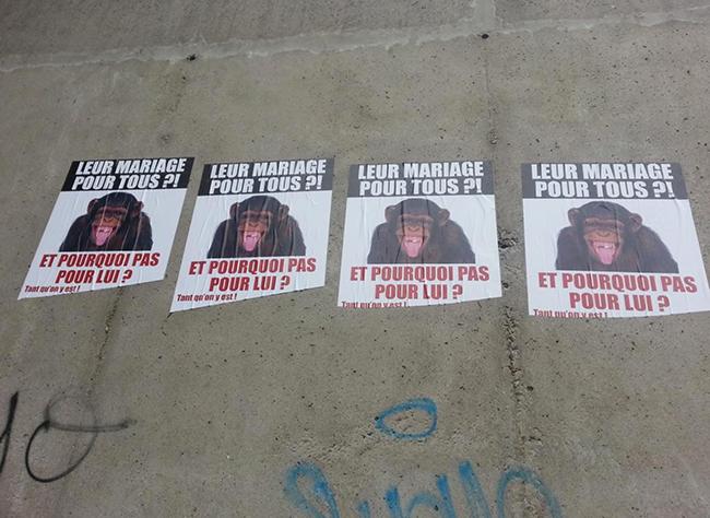 Saint-Étienne : Des affiches homophobes placardées sur les murs de la ville