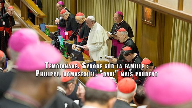 """Témoignage. Synode sur la famille : Philippe, homosexuel, """"ravi"""" mais prudent"""