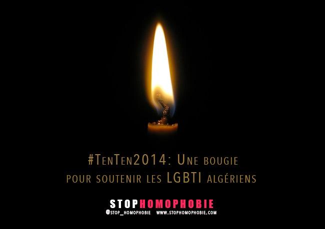#TenTen 2014: Une bougie pour soutenir les LGBTI algériens