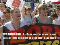 VIDEOS. WASHINGTON : La Cour suprême ouvre la voie au mariage entre personnes de même sexe dans cinq États