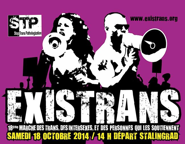 Dix-huitième édition de l'Existrans : Pour le respect des droits humains des personnes trans et Intersexes
