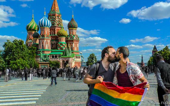 Russie : Bon baiser gay depuis la place Rouge <3