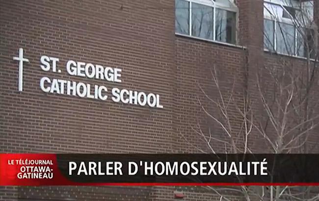 Canada : L'homosexualité, un sujet sensible dans certaines écoles catholiques d'Ottawa