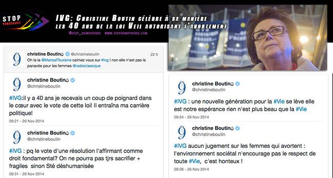 IVG : Christine Boutin célèbre à sa manière les 40 ans de la loi Veil