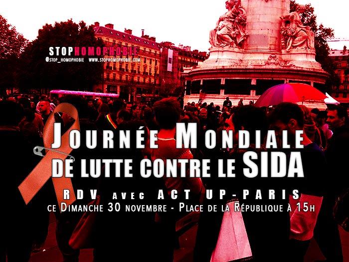 """Manifestation : Avec ACT UP-Paris pour la """"Journée mondiale de lutte contre le sida"""""""