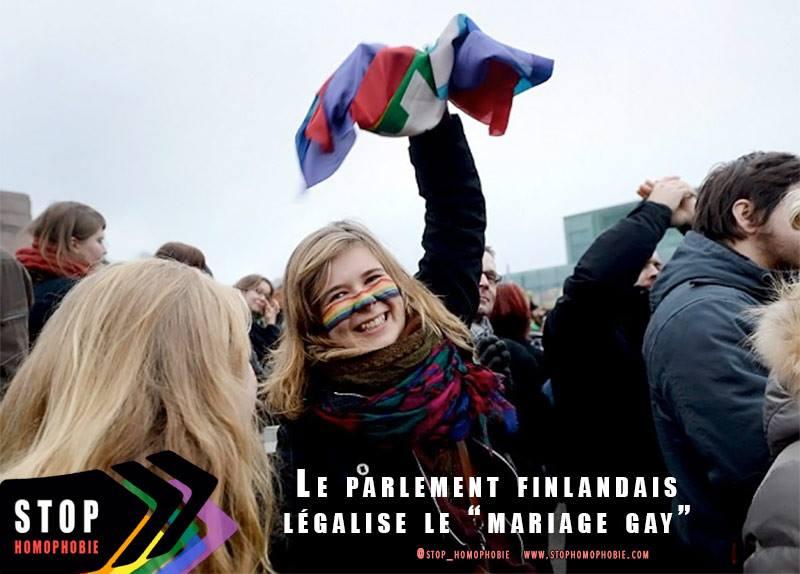 La Finlande est devenu le 12e pays d'Europe à légaliser le mariage entre personnes de même sexe