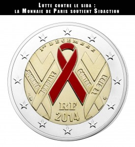 monnaie de paris - sidaction - piece commemorative