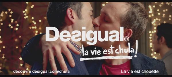 """La vie """"Chula"""" selon Desigual, c'est """"La liberté d'embrasser qui vous voulez devant tout le monde"""""""