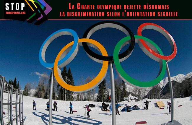 """Fin de la discrimination liée à l'orientation sexuelle dans la Charte Olympique : les pays """"voyous"""", bannies des Jeux"""