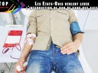 Après 31 ans, les dons de sang des homosexuels à nouveau autorisés aux Etats-Unis