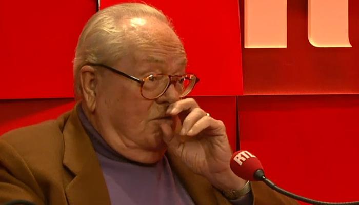 Sur RTL, Jean-Marie Le Pen revient sur la présence d'homosexuels au FN