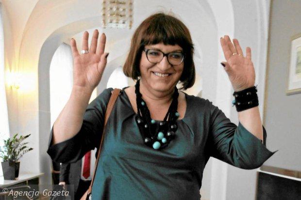 Anna Grodzka, députée transsexuelle, candidate à la présidence de la République en Pologne