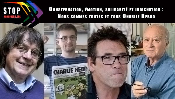 Consternation, émotion, solidarité et indignation : Nous sommes toutes et tous Charlie Hebdo