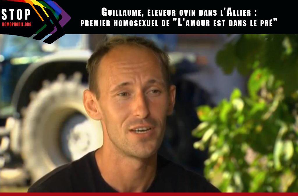 """Guillaume, éleveur dans l'Allier et premier homosexuel de """"L'amour est dans le pré"""""""