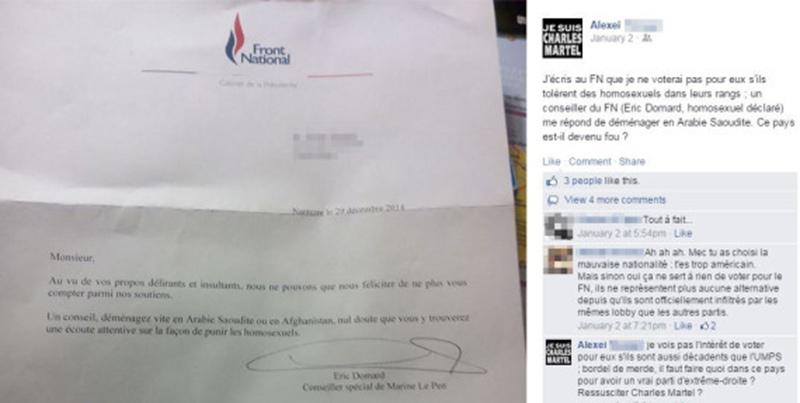 Revue de presse : La réponse d'un conseiller FN à un sympathisant homophobe