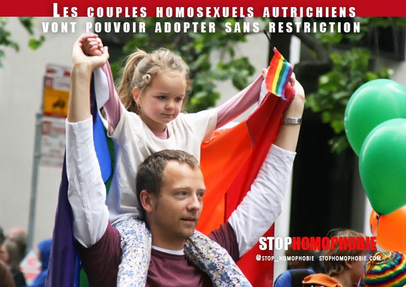 L'Autriche accorde aux couple homosexuels l'égalité des droits devant l'adoption