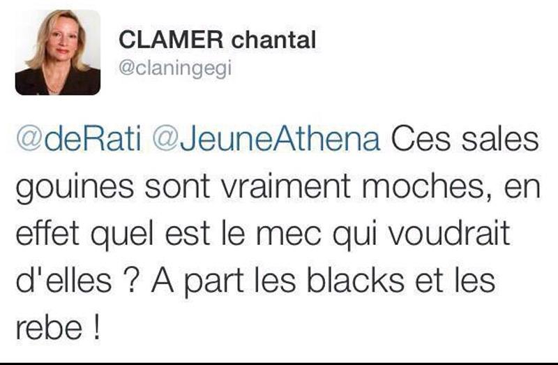 Chantal Clamer, candidate FN de Pamiers aux départementales, adepte des tweets qui frisent la pathologie