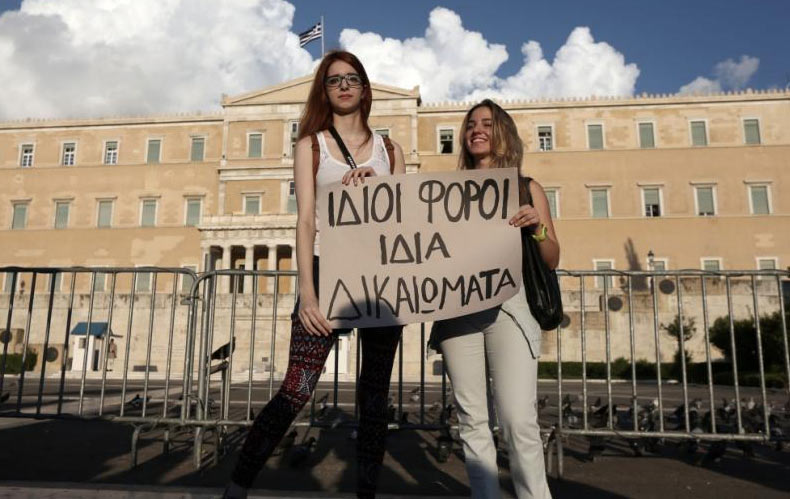 En Grèce, le nouveau gouvernement annonce l'ouverture du partenariat civil aux couples de même sexe