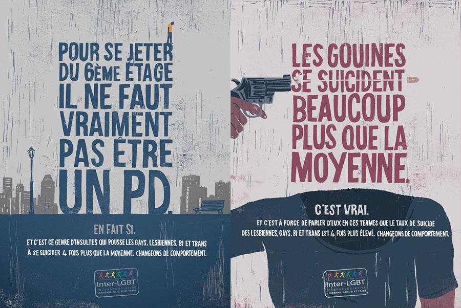 Homophobie : contre le suicide des LGBT, la campagne choc de l'Inter-LGBT