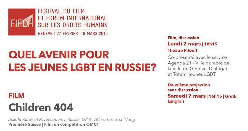 Vidéo. Festival FIFDH : « Quel avenir pour la jeunesse LGBT en Russie ? »