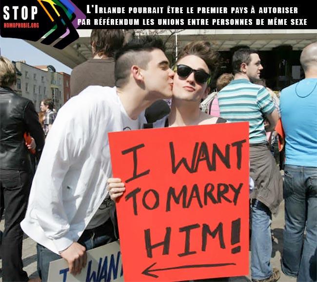 En Irlande, un référendum le 22 mai prochain pour autoriser le «mariage homosexuel»