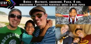 Brésil---Maltraité-et-abandonné,-Paolo,-4-ans,-redécouvre-l'affection-parentale-grâce-à-un-couple-gay