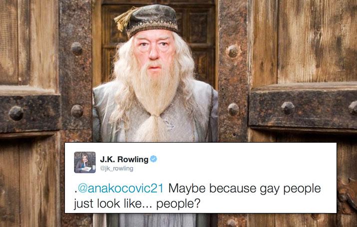 Quand J. K. Rowling répond à une fan qui critique l'homosexualité de Dumbledore