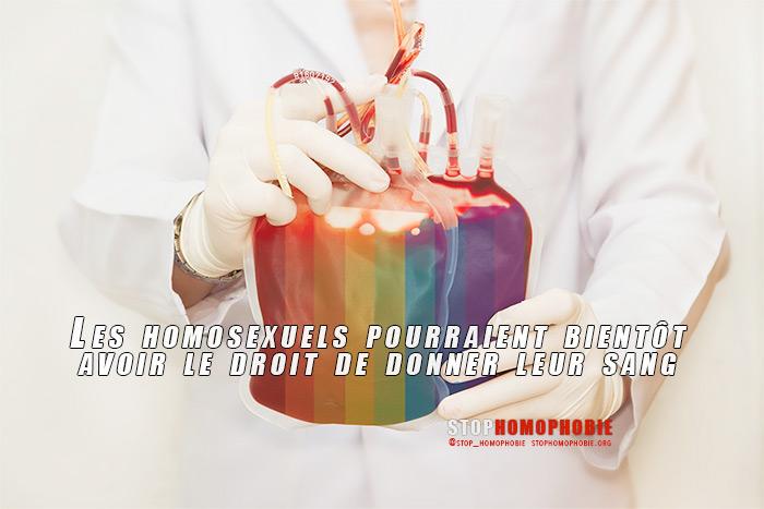 France : Les homosexuels vont-ils enfin pouvoir donner leur sang ?