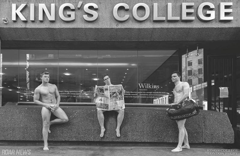 """Les rugbymen du """"King's College"""" de Londres se mettent à nu pour la bonne cause"""
