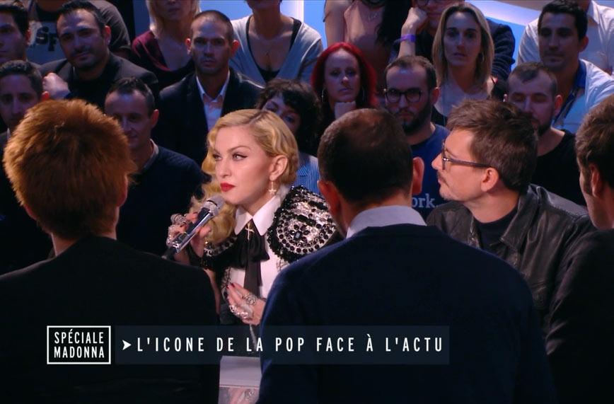 Madonna, rédactrice en chef du Grand Journal de Canal Plus