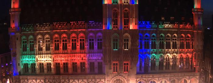 """Pour célébrer les 20 ans de sa """"Pride.be"""", Bruxelles se pare des couleurs de l'arc-en-ciel"""