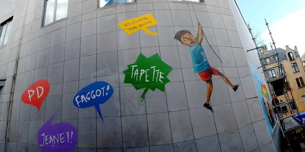Bruxelles : une série de fresques murales pour aborder l'homophobie dans l'espace public