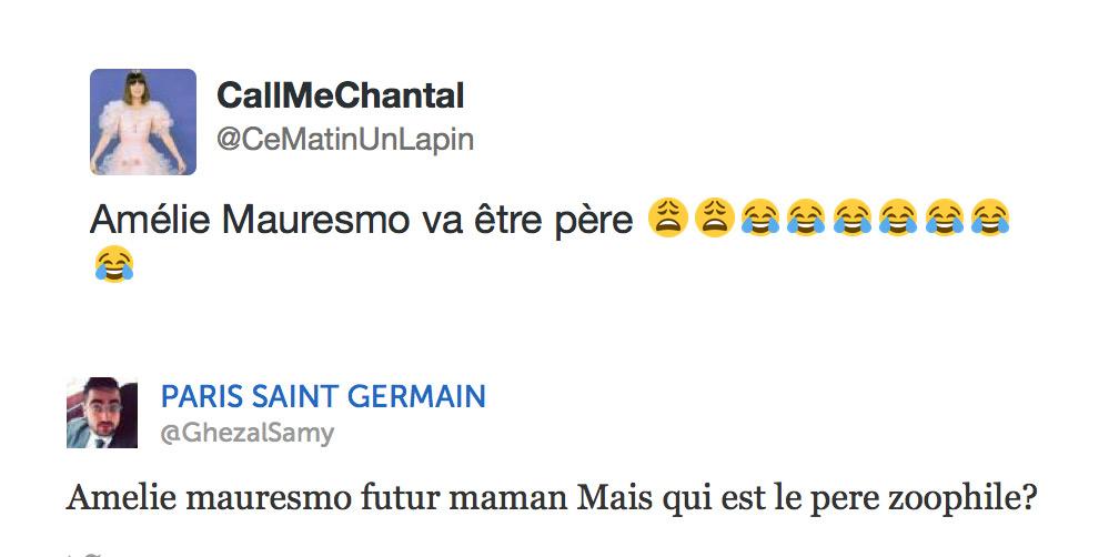 Vague de commentaires homophobes à l'annonce de la maternité d'Amélie Mauresmo sur twitter