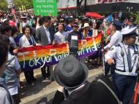 """Des milliers de personnes à la """"Pride"""" de Tokyo pour réclamer """"le mariage pour tous"""""""
