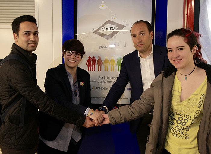 « DIVERSIDAD » : une campagne dans le métro madrilène pour lutter contre l'homophobie