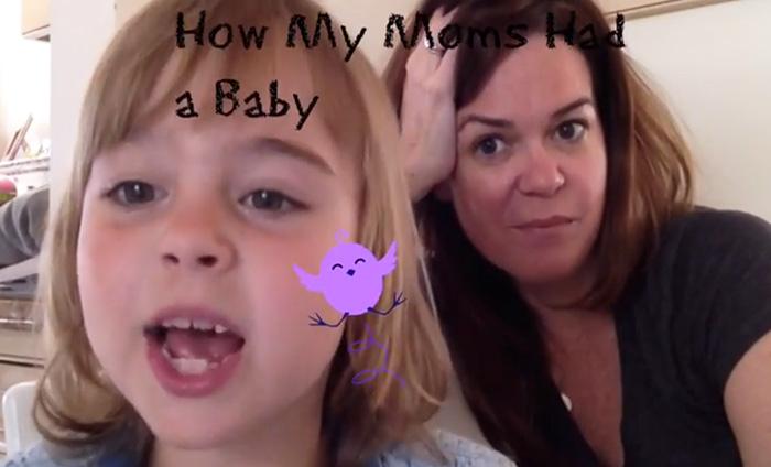 À 7 ans, cette petite fille explique comment ses deux mamans ont fait pour la concevoir