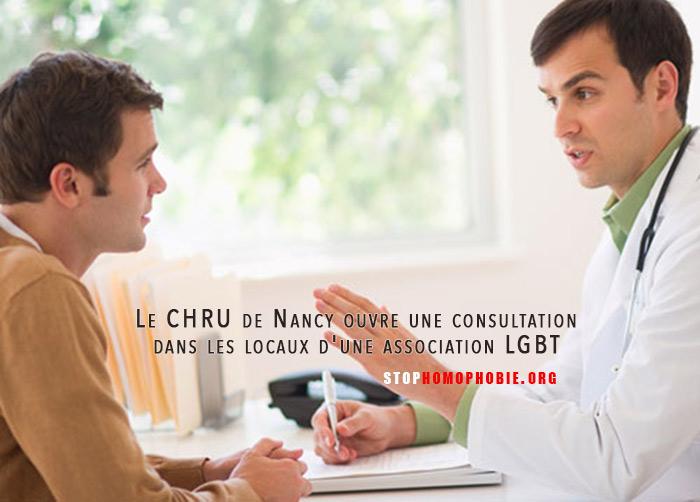Santé : Le CHRU de Nancy ouvre une consultation gratuite dans les locaux d'une association LGBT