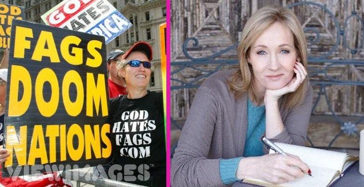 Tolérance zéro pour l'homophobie : Sur les réseaux J.K. Rowling rembarre les fanatiques de la Westboro Baptist Church