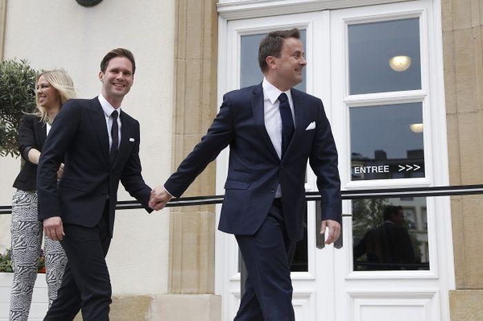 Photos/vidéos : Xavier Bettel, Premier ministre du Luxembourg a épousé Gauthier Destenay