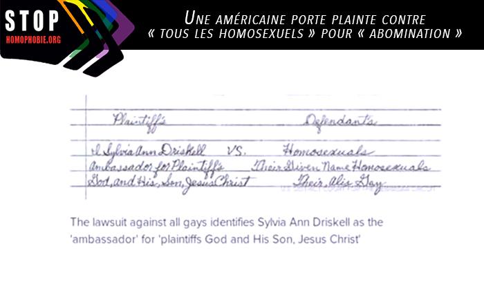 Invasion des clones : une américaine porte plainte contre « tous les homosexuels » pour « abomination »