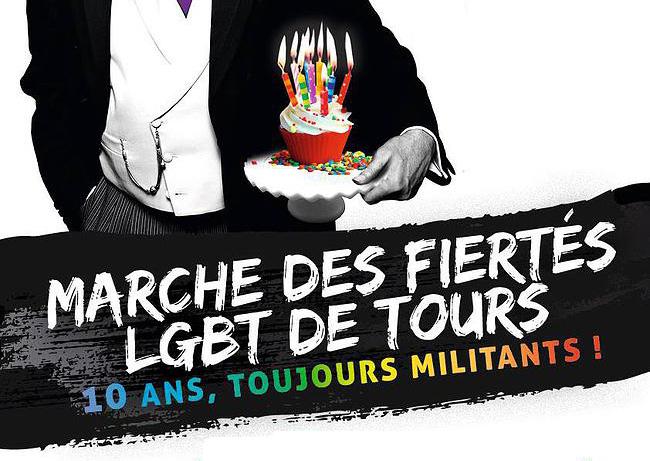 Marche des Fiertés de Tours : 10 ans de lutte, de victoires mais aussi de revendications