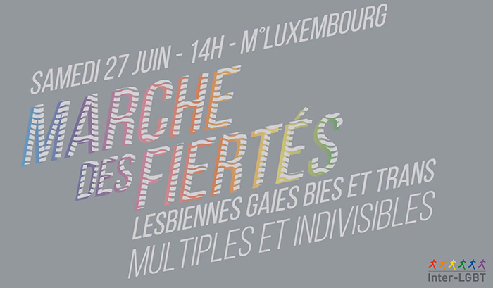 A l'approche de la Marche Des Fiertés 2015, l'Inter-LGBT précise ses revendications