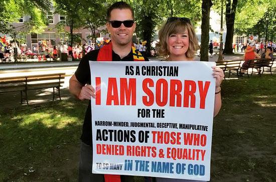 """Témoignage : """"En tant que chrétien, JE ME DÉSOLE de ceux qui refusent l'égalité des droits""""."""