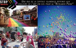 Une-rue-de-la-capitale-islandaise-repeinte-aux-couleurs-de-l'arc-en-ciel-pour-la-'Reykjavik-Pride'