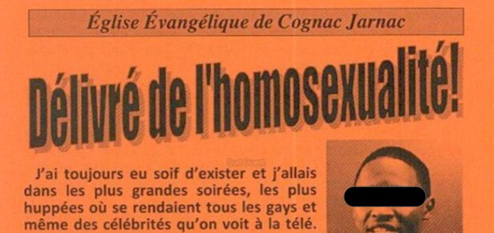 """Tracts homophobes : Des membres de l'Eglise évangélique de Cognac, condamnés pour """"provocation à la discrimination"""""""