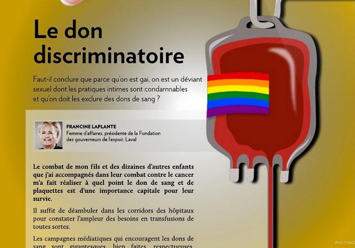 Témoignage. « Le don discriminatoire »