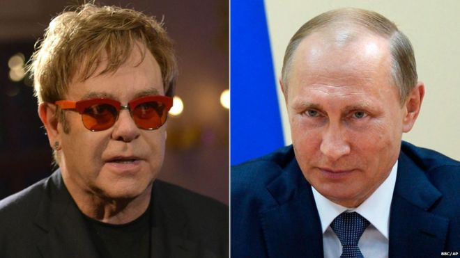 Quand Vladimir Poutine appelle Elton John : Cette fois, le Kremlin confirme !